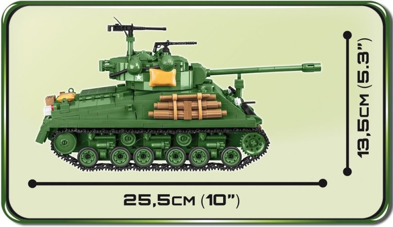 COBI Sherman Easy Eight Tank Set Size