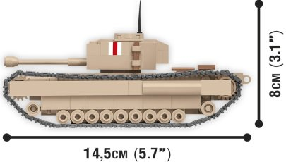 COBI 148 Scale Churchill I Set Length