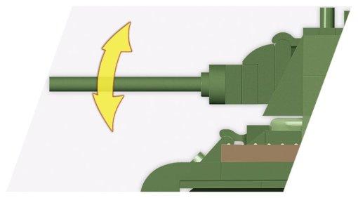COBI 148 Scale T-34 Barrel detail