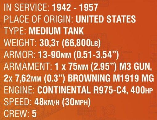 COBI 148 Sherman Specs