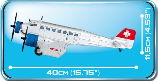 COBI Junkers JU-52 Swiss Version (5711) Size