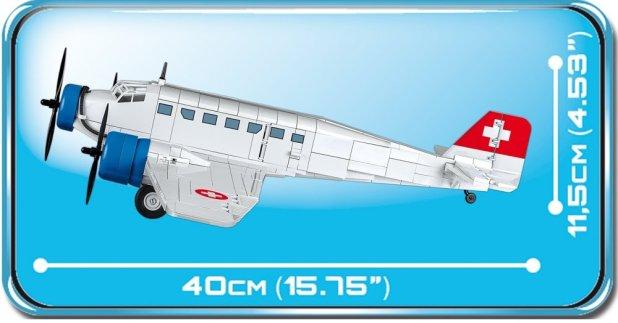 COBI Junkers JU-52 Swiss Version (5711) Size