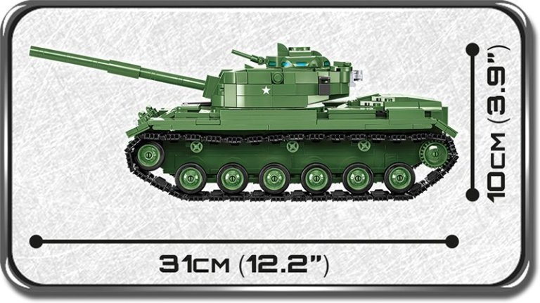 COBI M60 Patton Tank Length