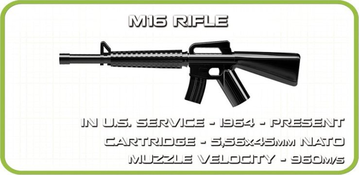 COBI M60 Patton Tank M16 Rifle