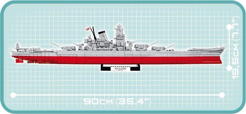 COBI MUSASHI Battleship (4811) Length