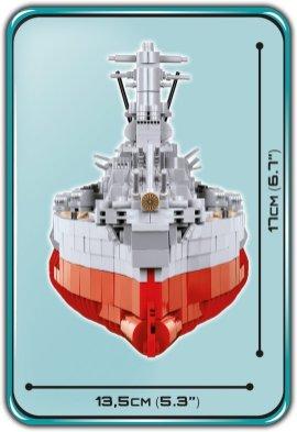 COBI MUSASHI Battleship (4811) Size
