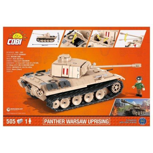 Cobi WOT Panther Warsaw Uprising Tank USA Store