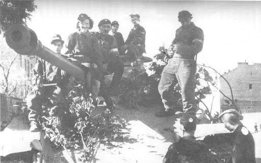 Polish Panther Tanks During Warsaw Uprising