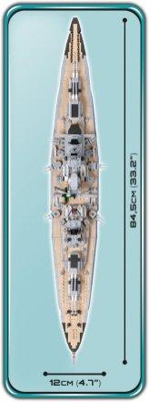 COBI Battleship Bismarck Set (4819) Length