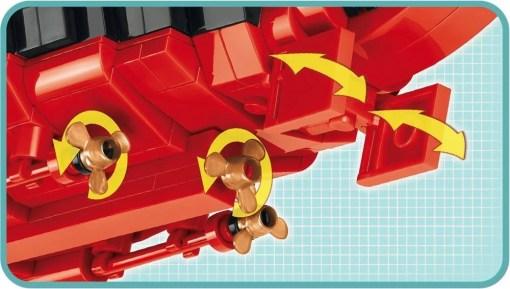 COBI Battleship Bismarck Set (4819) Screw detail