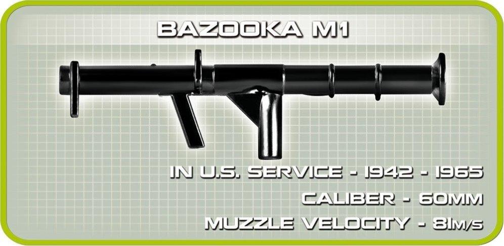 COBI M3 Armored Half-Track Set (2536) Bazooka