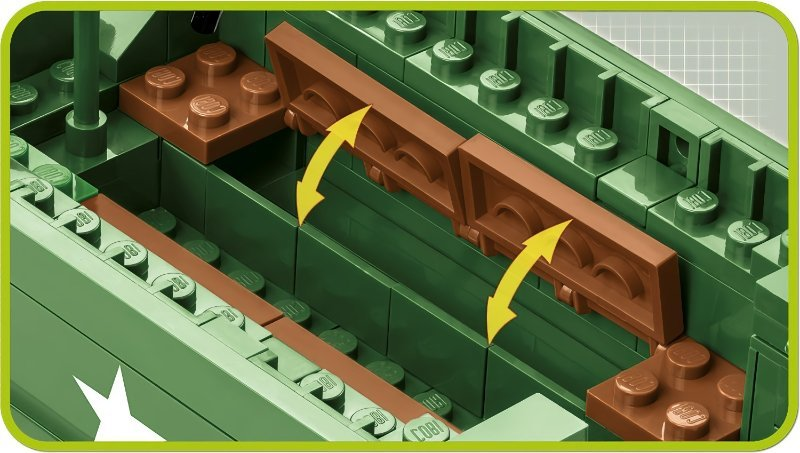 COBI M3 Armored Half-Track Set (2536) Benches