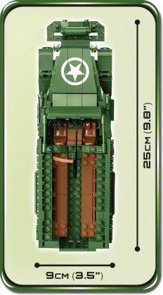 COBI M3 Armored Half-Track Set (2536) Size