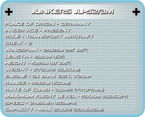 COBI-Junkers-JU-52-German-Version-Tech