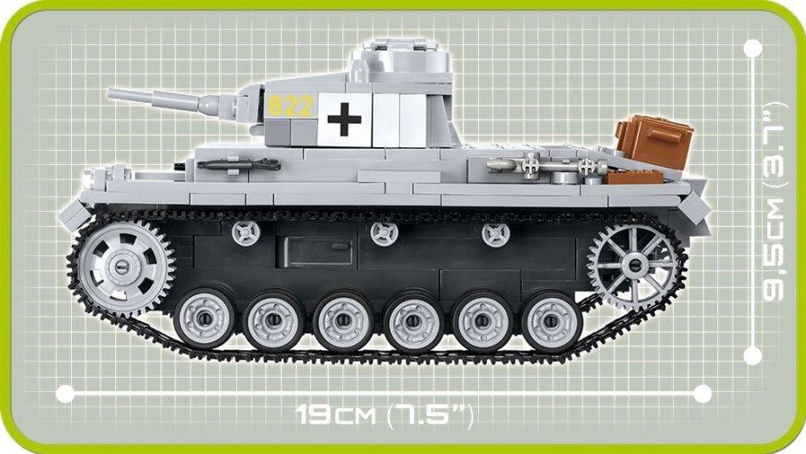 COBI PANZER III Ausf. E Tank Set (2523) Specs