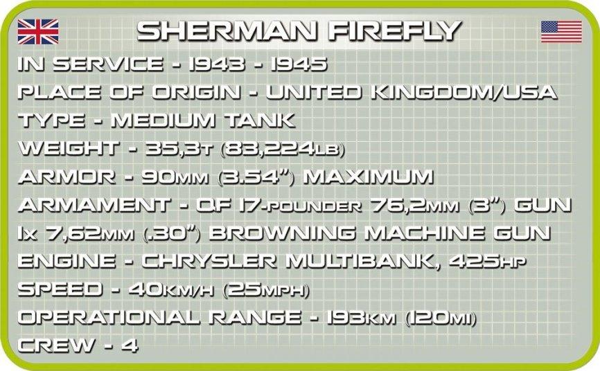 COBI Sherman Firefly Set (2515) Specs