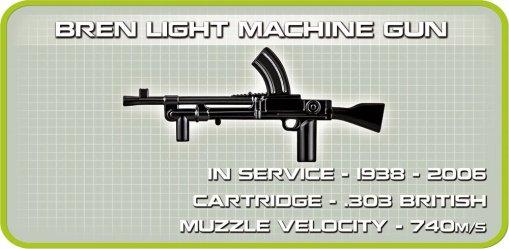 COBI Sherman Firefly Set (2515) bren Gun