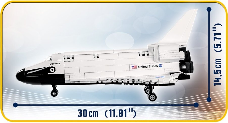 COBI Space Shuttle Discovery (2107A) length