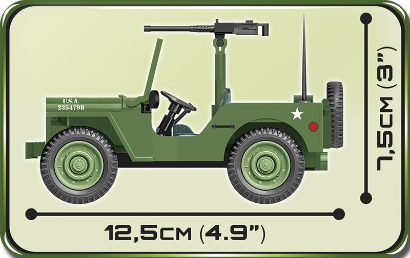 COBI Willy's MB Jeep Set (2399) Details