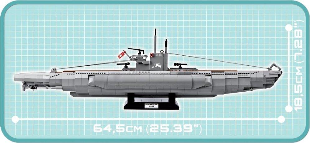 COBI U-48 U-Boat Submarine Set (4805) Size