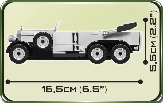 COBI 1939 Mercedes G4 Set (2409) Size