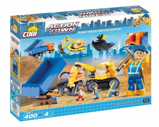 COBI Dump Truck & Excavator Set (1667) Amazon