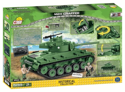 COBI M24 Chaffee Tank Set (2543) Box
