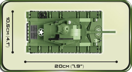 COBI M24 Chaffee Tank Set (2543) Length