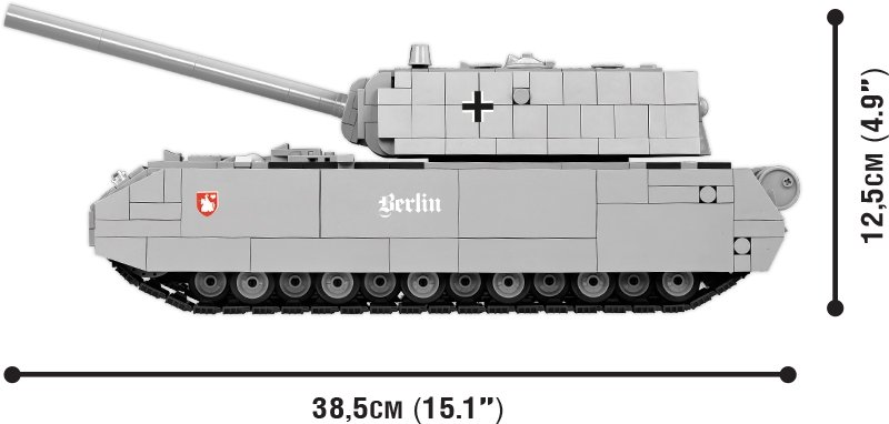 COBI Panzer VIII Maus Set (3024) Size