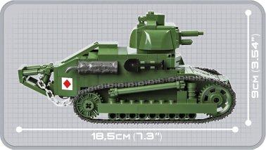 COBI Renault FT-17 Tank Set (2973) Length