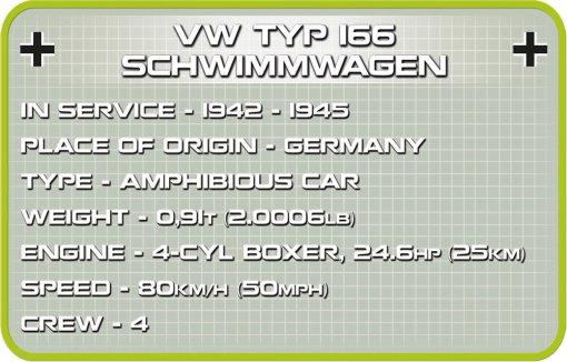 COBI SCHWIMMWAGEN Set (2403) Specs