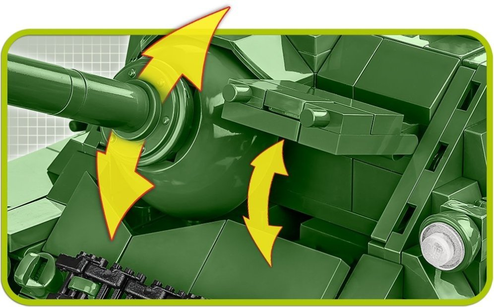 COBI SU-100 Tank Destroyer (2541) Gun