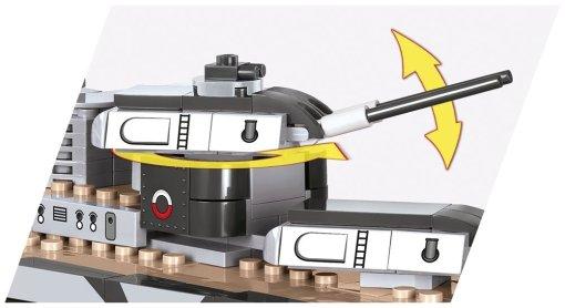 COBI Tirpitz Battleship Set (3085) How many pieces