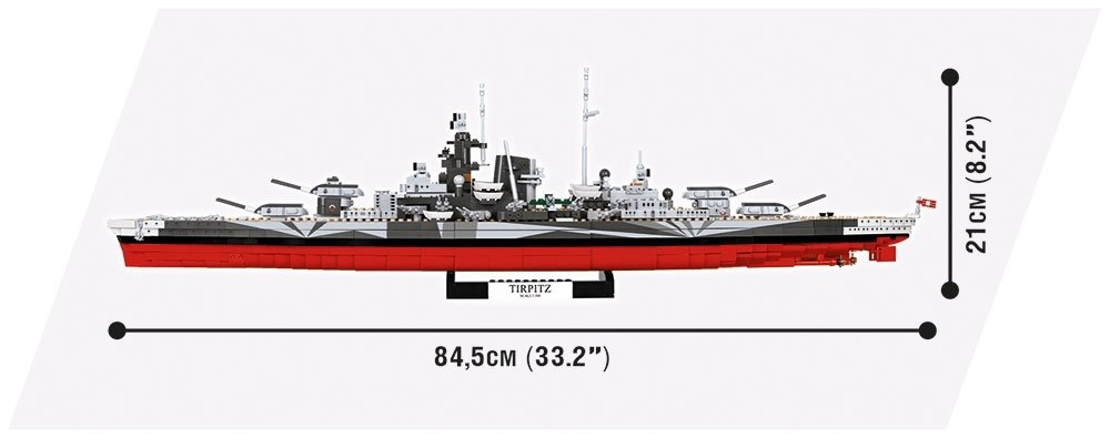 COBI Tirpitz Battleship Set (3085) Size