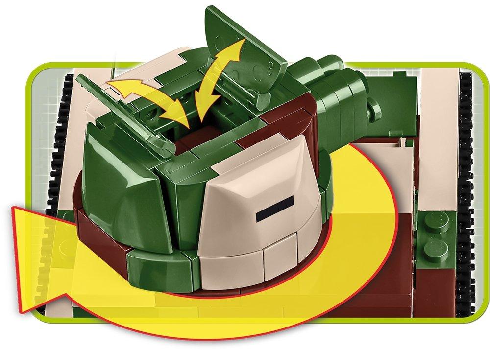 COBI Vickers Tank Set (2520) Turret