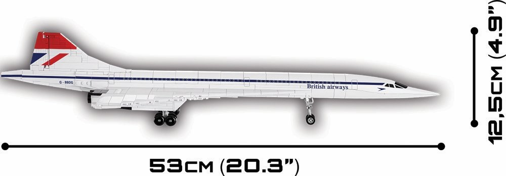 The COBI Concorde Set (1917) Size