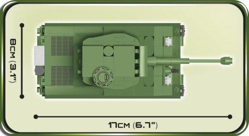 COBI 148 M4A3E8 Sherman (2705) Size