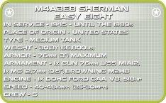 COBI 148 M4A3E8 Sherman (2705) Specs