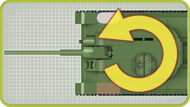COBI 148 Scale T34 Tank (2702) Turrer