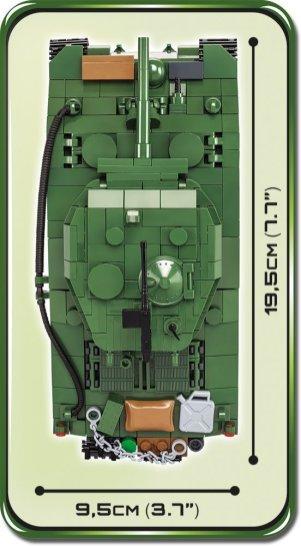 COBI Sherman M4A3E2 Jumbo Set (2550) Length