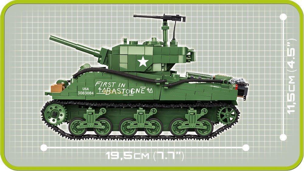 COBI Sherman M4A3E2 Jumbo Set (2550) Size