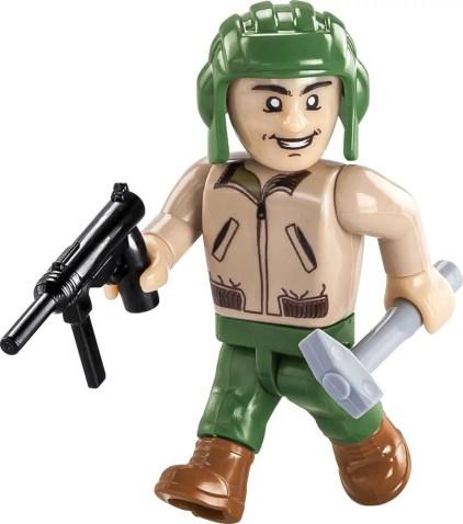 COBI Sherman M4A3E2 Jumbo Set (2550) Soldier