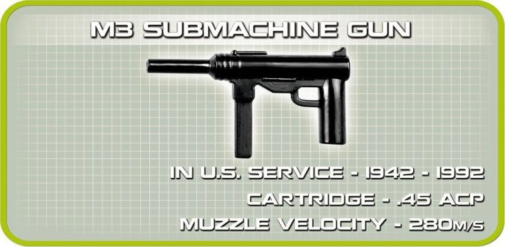 COBI Sherman M4A3E2 Jumbo Set (2550) Sub gun