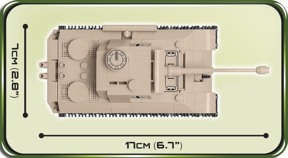The COBI 148 Panzer V Panther (2704) Size