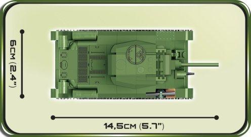 COBI 148 T-34 76 Set (2706) length