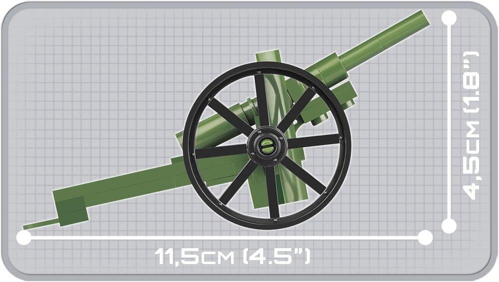 COBI 75MM Schneider Gun (2979) Size
