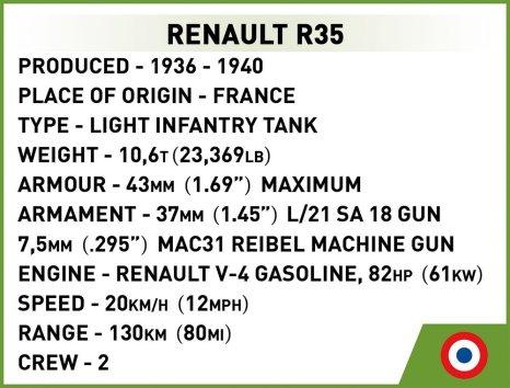COBI Renault R35 Specs