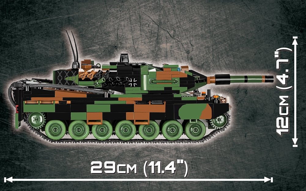 How big is the COBI Leopard 2A5 TVM Set (2620)