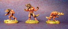 Blue Moon Werewolves 15mm