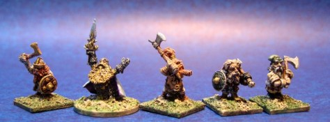 15mm Dwarves- Adventurers and warriors - mixed Essex, TTG, Demonworld